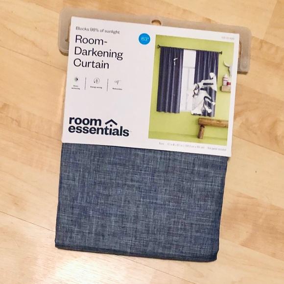 "New Room Essentials 63"" Room Darkening Curtain"